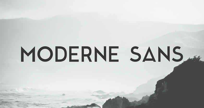Moderne sans serif free font family typeface