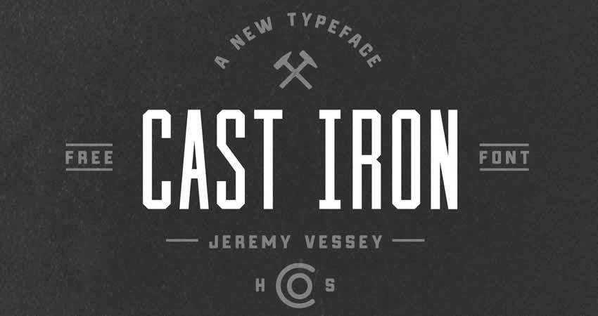 Cast Iron sans serif free font family typeface