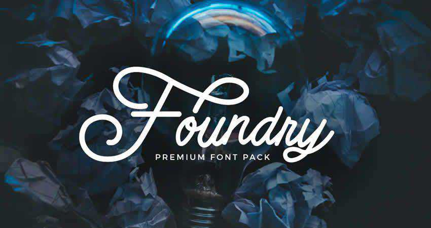 Foundry font pack