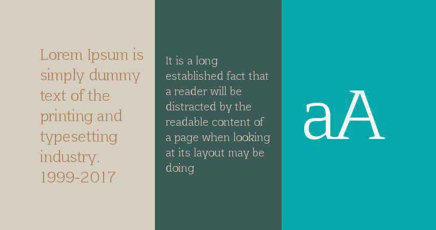 Afta serif free font family typeface
