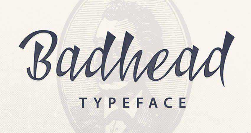 Badhead serif free font family typeface