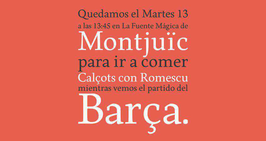 Born serif free font family typeface