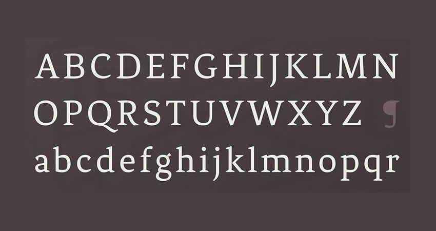 Fénix Regular serif free font family typeface