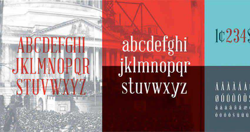 Abraham Lincoln serif free font family typeface