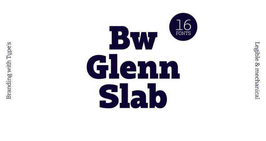 Bw Glenn Slab font family