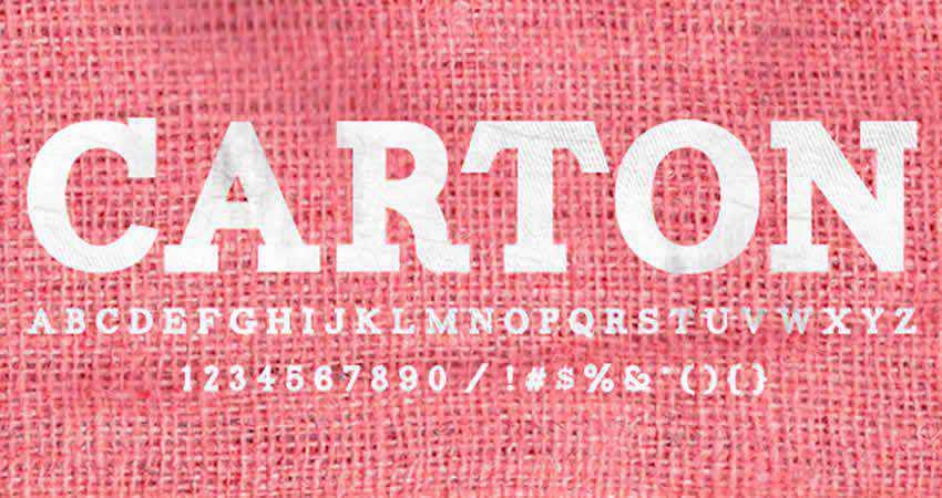 Carton Slab slab free font family typeface