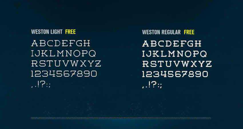 Weston Rounded slab free font family typeface