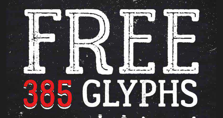 Lumberjack slab free font family typeface