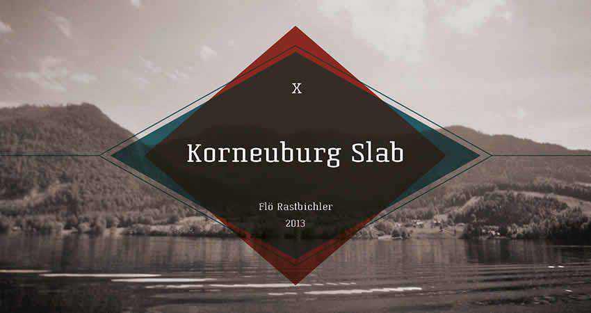 Korneuburg slab free font family typeface