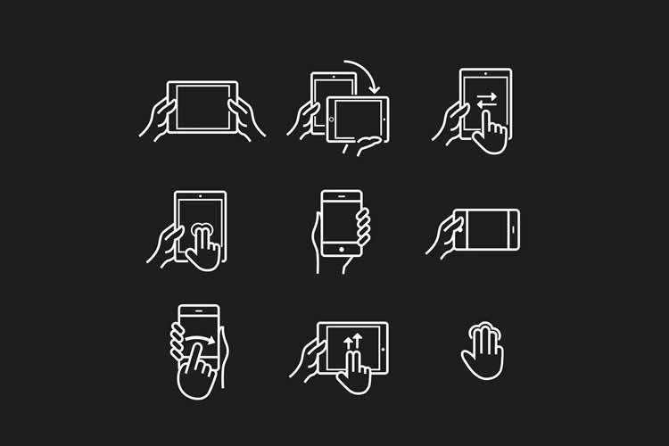 Device Gesture Icons