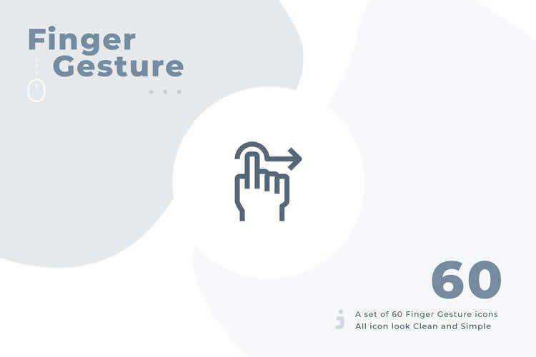 Finger Gesture icon set