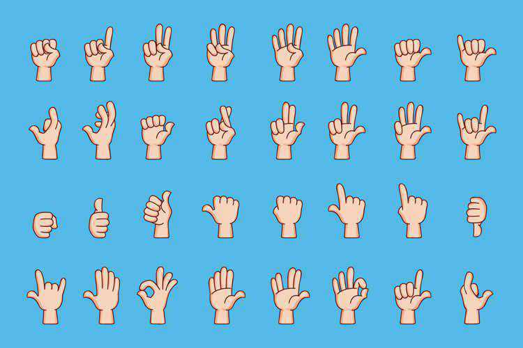 Cartoon Hand Gesture Collection