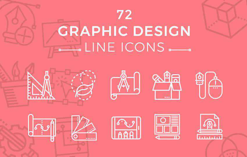 Graphic Design Line Icons
