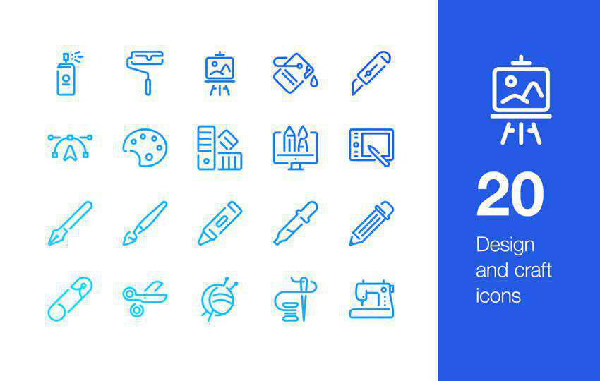 20 Design & Craft Icons