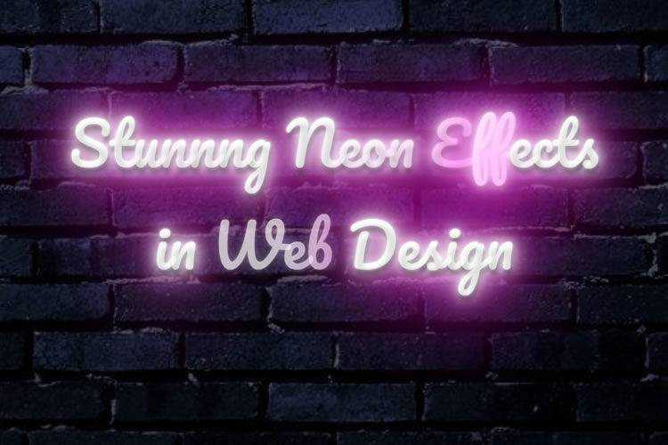 12 Stunning Retro Neon Effects in Web Design