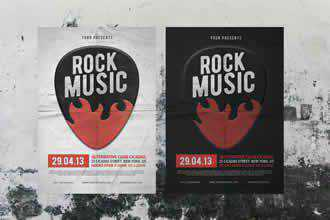 Rock Music Flyer Poster