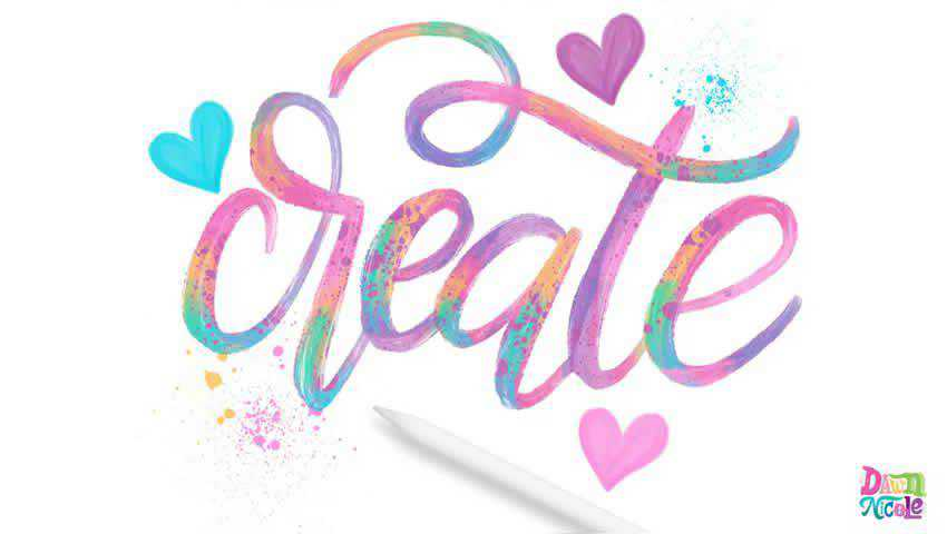 How to Create Painted Calligraphy with Procreate