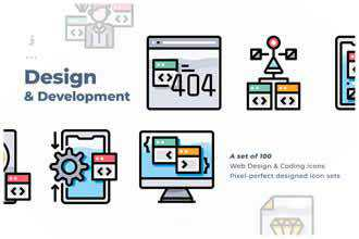 100 Web Design Development icon
