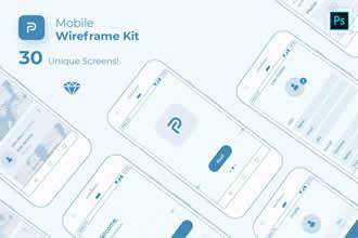 Pride Mobile Wireframe Kit