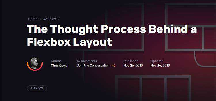 Example from The Thought Process Behind a Flexbox Layout