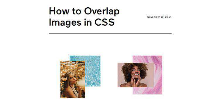 Example from How to Overlap Images in CSS