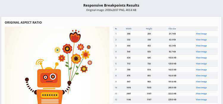 Example from Responsive Image Breakpoints Generator