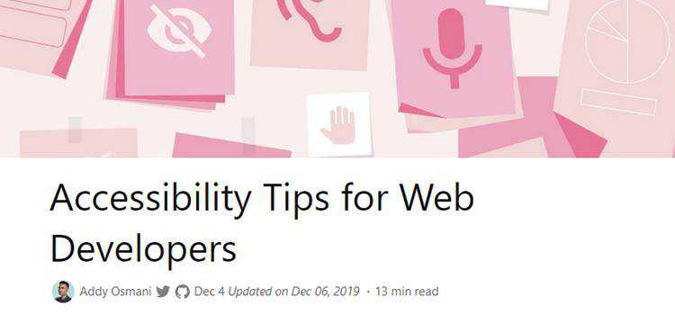 Example from Accessibility Tips for Web Developers