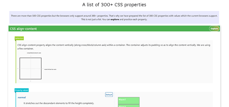 Example from A list of 300+ CSS properties