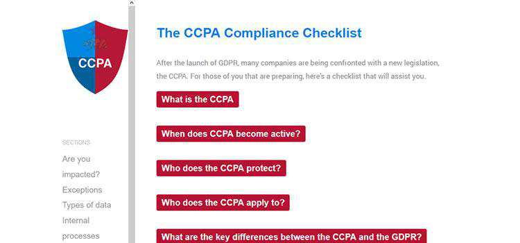 Example from The CCPA Compliance Checklist