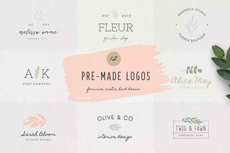10 Free Collections of Feminine Logo Templates for Designers