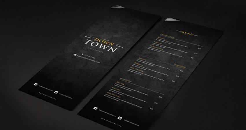 Bar & Cafe Drinks Menu Template Photoshop PSD