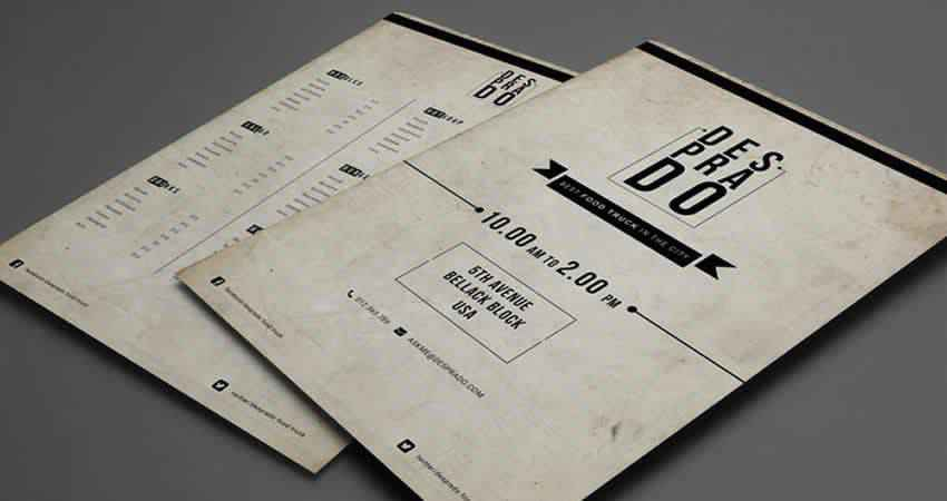 Rustic Menu Template Photoshop PSD