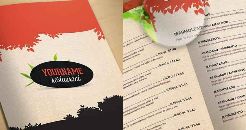 Restaurant Menu Template Photoshop PSD