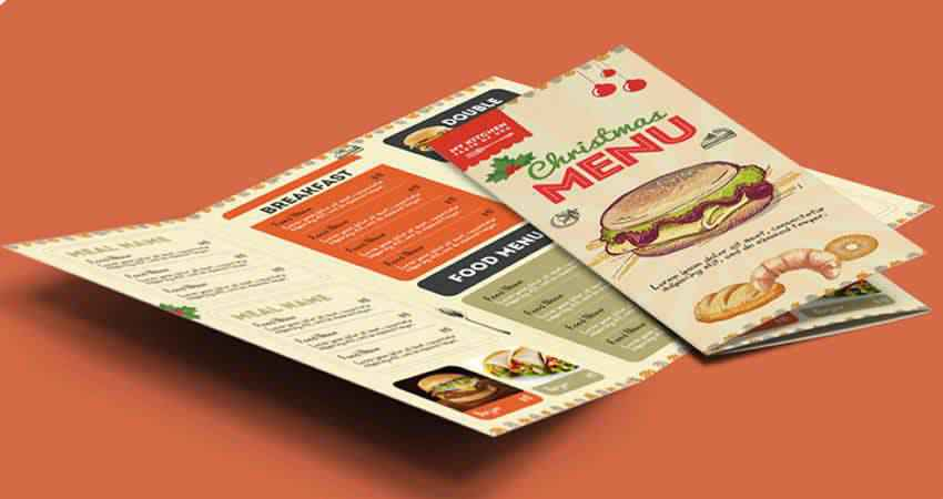 Retro Restaurant Food Menu Brochure Template Photoshop PSD
