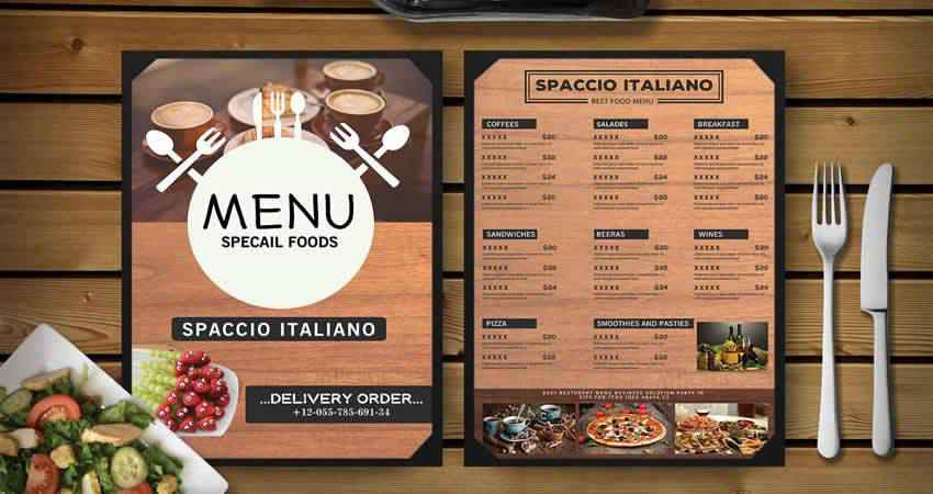 Beautiful Restuarant Menu Template Photoshop PSD
