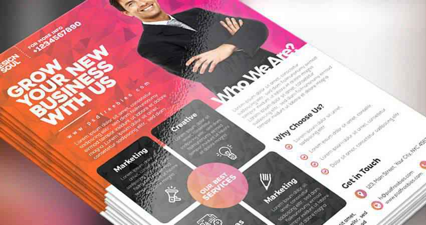 Multipurpose Corporate Business Flyer Template Photoshop PSD