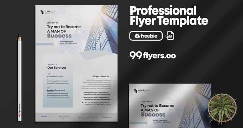 Clean Corporate & Business Flyer Template Photoshop PSD
