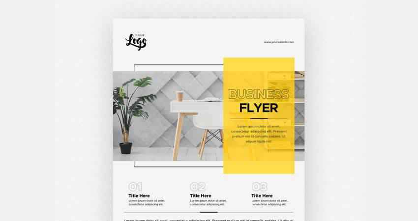Minimal Business Flyer Template Photoshop PSD