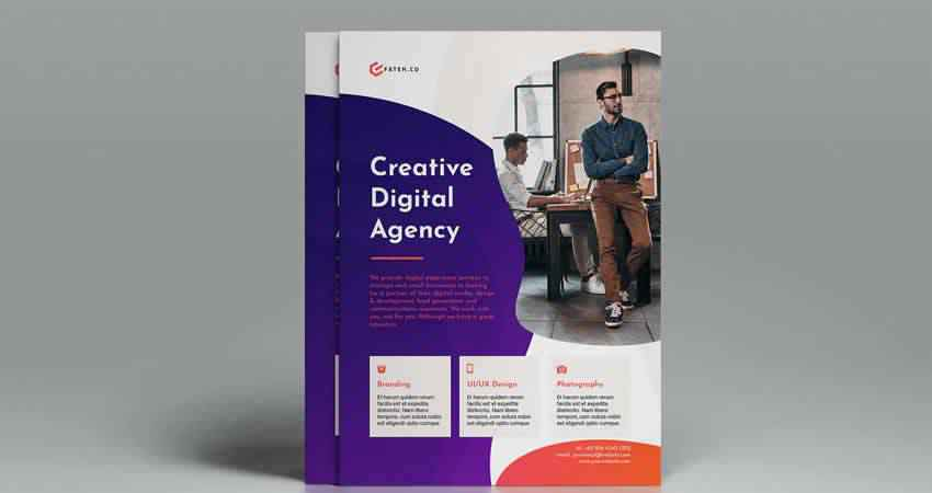 Creative Digital Agency Flyer Template Indesign