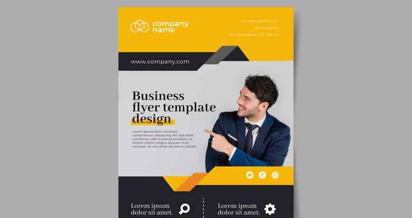 Abstract Business Vector Flyer Template Illustrator EPS