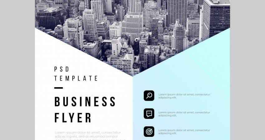 Abstract Business Flyer Template Photoshop PSD