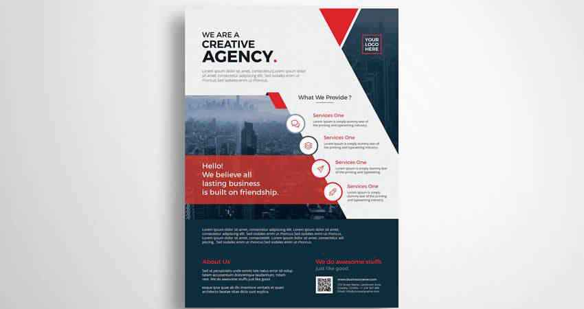 Creative Agency Corporate Flyer Template Photoshop PSD
