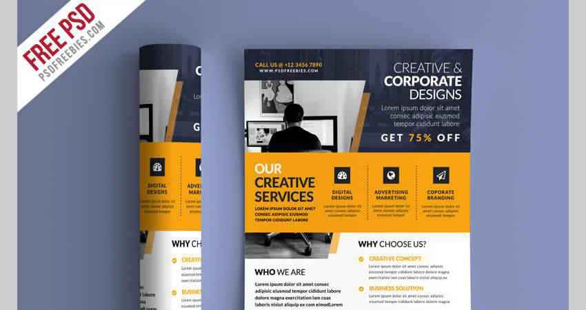 Business Promotional Flyer Template Photoshop PSD