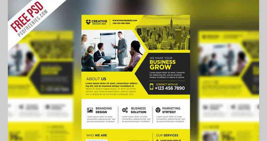 Corporate Business Promotional Flyer Template Photoshop PSD