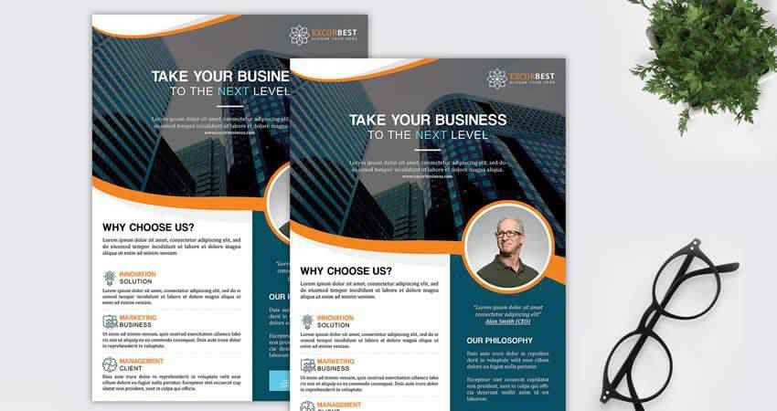 Excor Creative Corporate Flyer Template Photoshop PSD