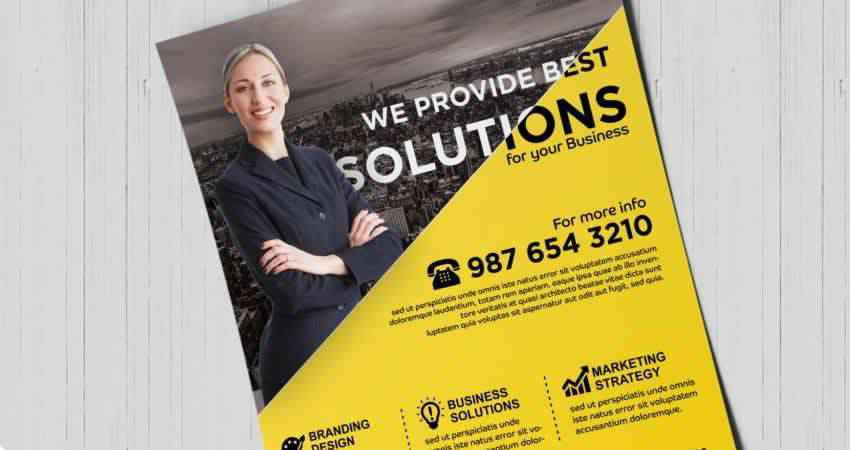 Business Solutions Flyer Template Photoshop PSD