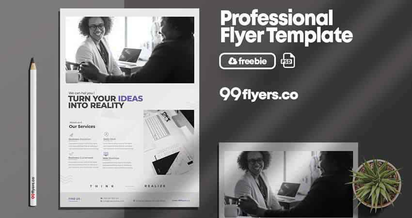 Minimal Corporate Flyer Template Photoshop PSD