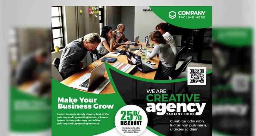 Creative Agency Corporate Business Flyer Template Photoshop PSD