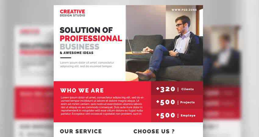 Business Promotion Flyer Template Photoshop PSD