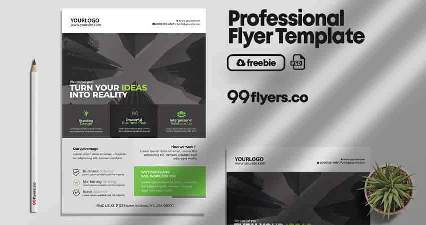 Corporate & Business Flyer Template Photoshop PSD
